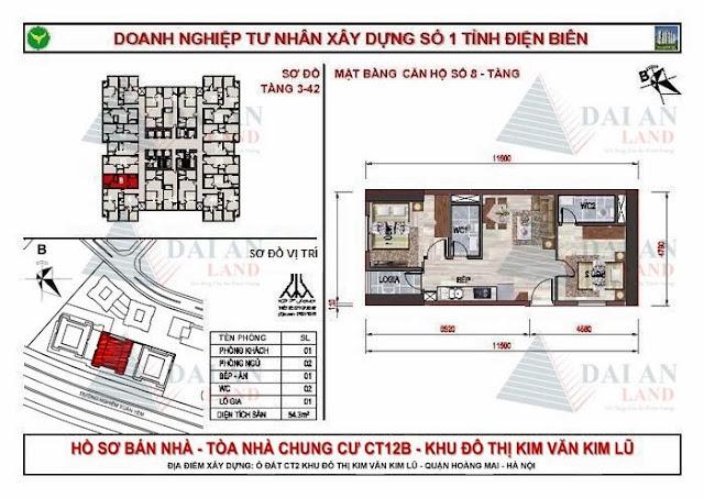 Căn 08 - Tòa CT12B Chung Cư Kim Văn Kim Lũ