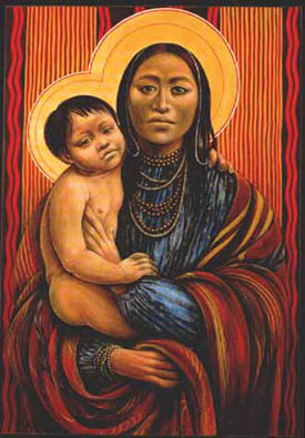Native American Mother And Child Art He Died For My Grins: ...