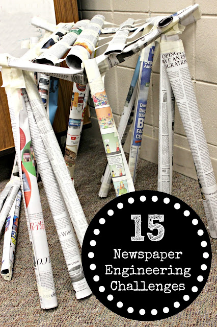 Newspaper Engineering Challenges for Kids   STEM at Home & in the Classroom