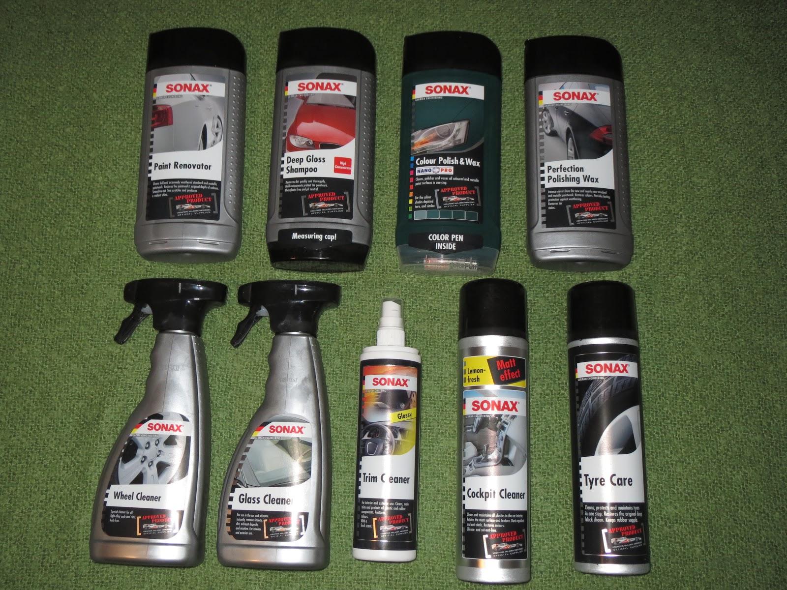test saxon brand sonax car valeting gear
