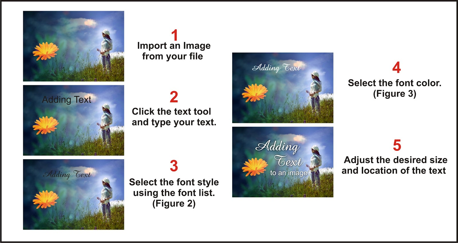 add writing to pictures Adding pictures to your document can be a great way to illustrate important information or add decorative accents to existing text used in moderation, pictures can improve the overall appearance of your document optional: download our practice document to insert a picture from a file.