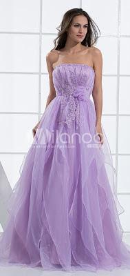 Romantique robe de bal empire bretelles Tour de taille organza Robe de Soirée