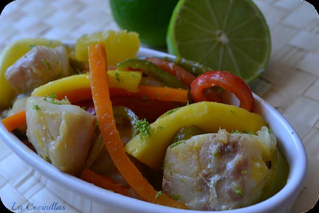 Bacalao con mango y lima la cocinillas for Cocinar con mango