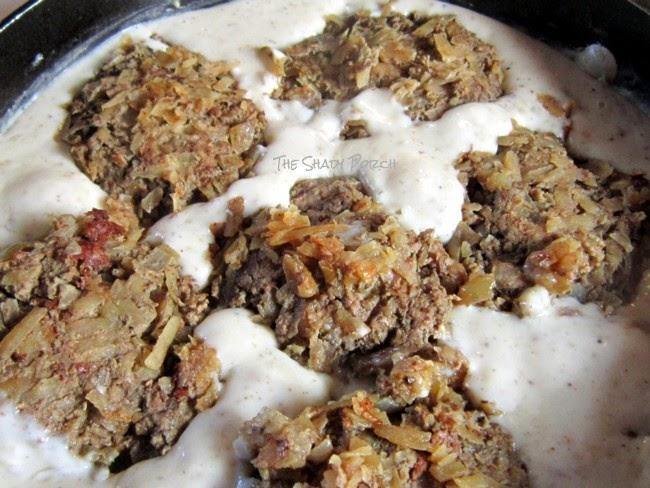 PotatoBurgers reheating in Gravy