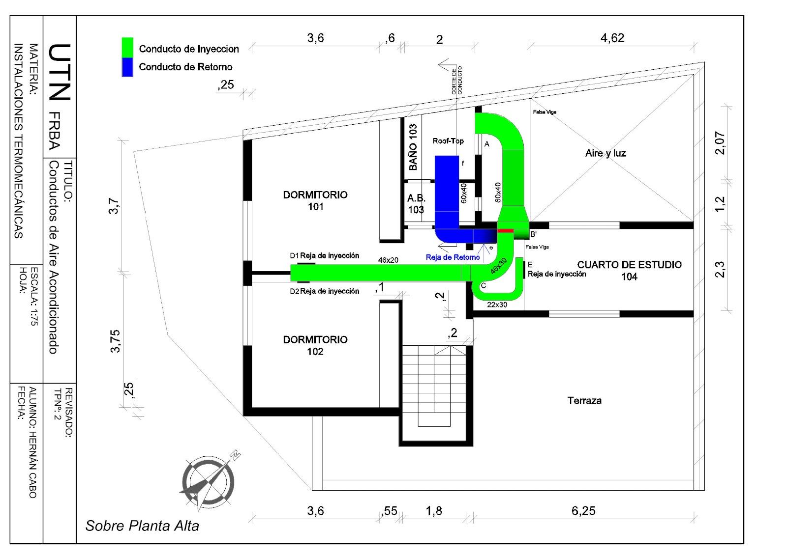 Detalles constructivos cad instalaci n domiciliaria de for Instalacion de aire acondicionado por conductos