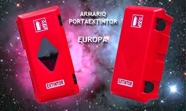 Armario extintor EUROPA en Pvc para extintores de 6 y 9/12 Kgs.