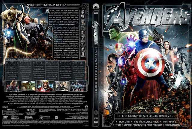 Capa DVD The Avengers The Ultimate SHIELD Archive