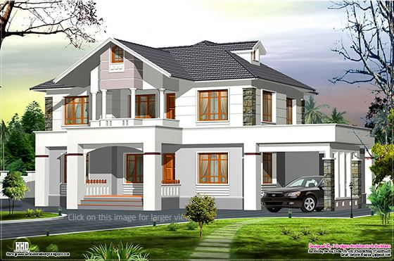 Western style home in Kerala