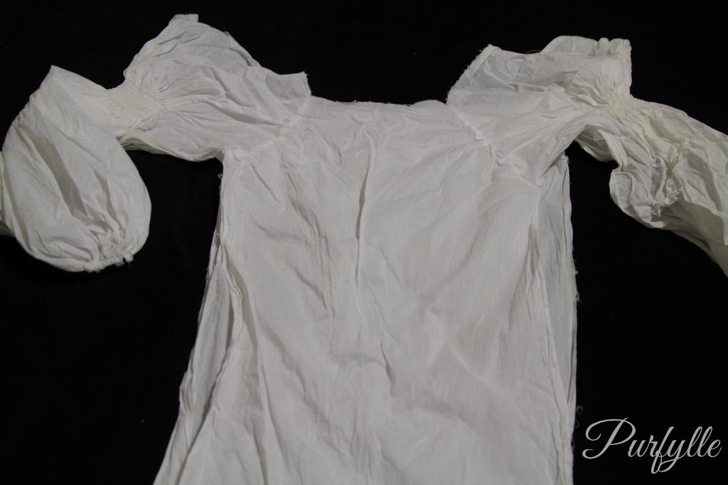 half stitched undershirt
