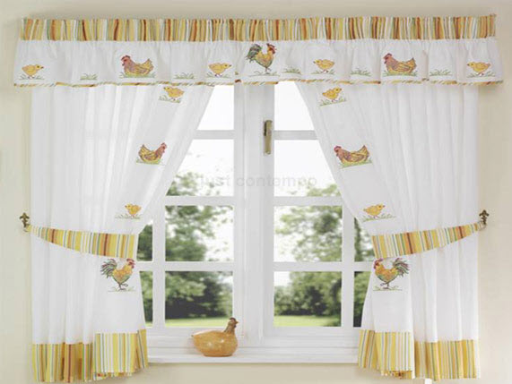 Di rio feminino ideias de cortinas para cozinha for Cortinas para cocina rustica