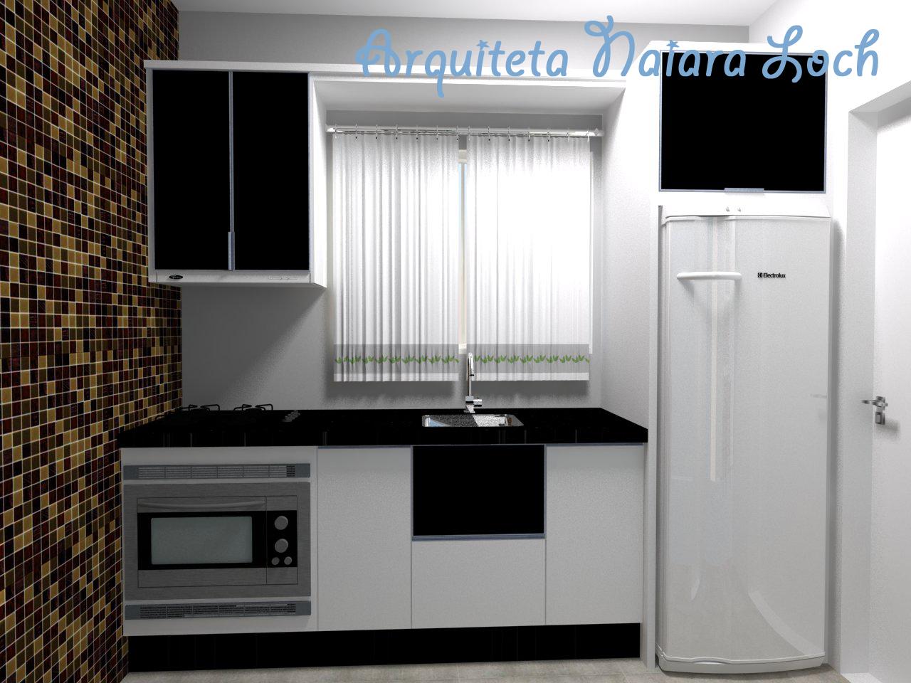 #3F668C em preto e branco deixa ambiente clássico. A parede em pastilhas de  1280x960 px Projetos De Cozinhas Em Preto E Branco #555 imagens