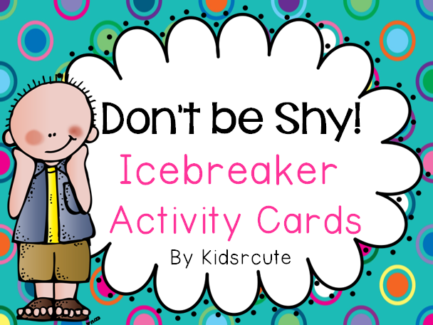 Creative Lesson Cafe: Back to School~ Icebreaker Activity Cards ...