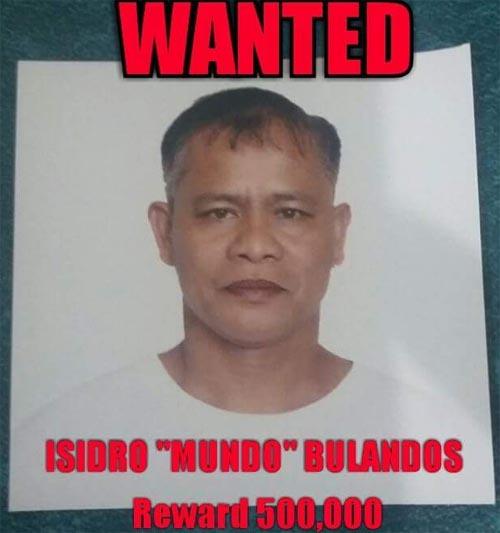 Wanted Isidro Mundo Bulandos