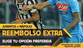 betfair reembolso 25 euros Juventus vs Napoles 22 diciembre