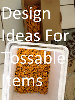 Artistic ideas for common disposable items.