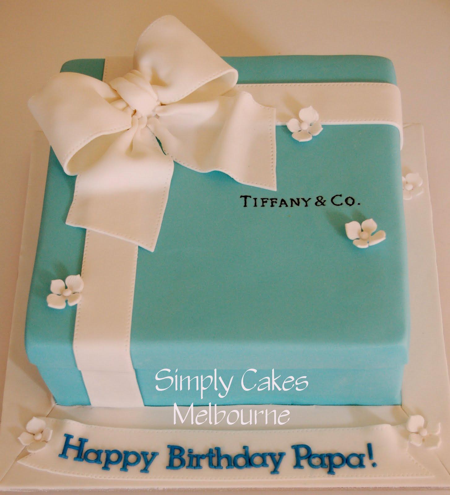 Simply Cakes Melbourne Tiffany box birthday cake