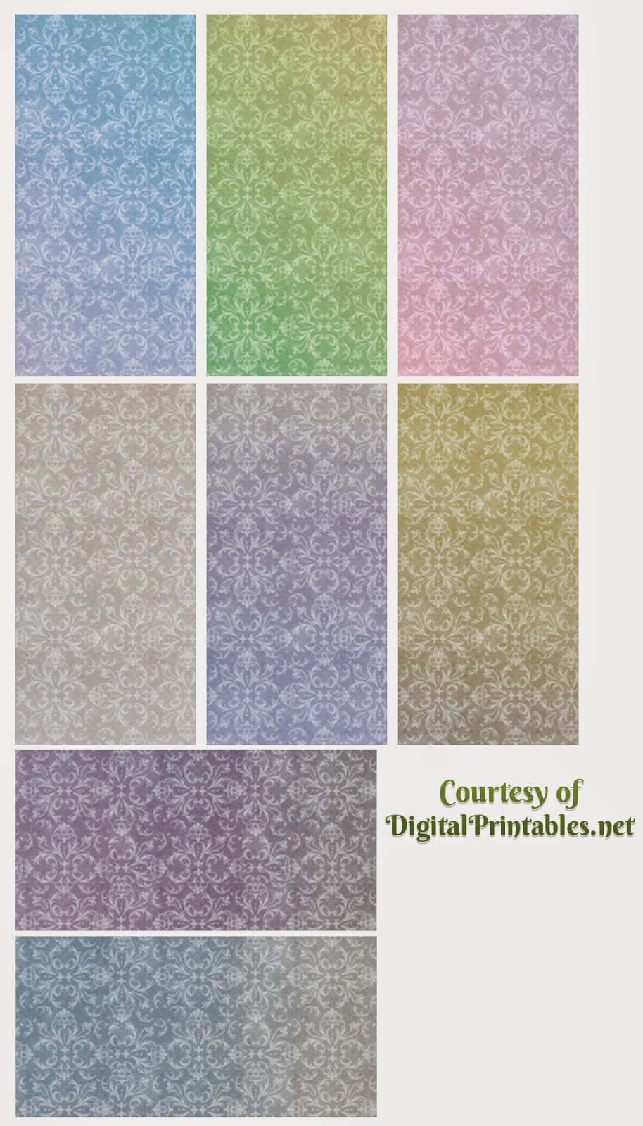high-res domino tiles damask vintage