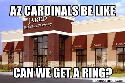 az cardinals be like can we get a ring? jared the galleria of jewelry