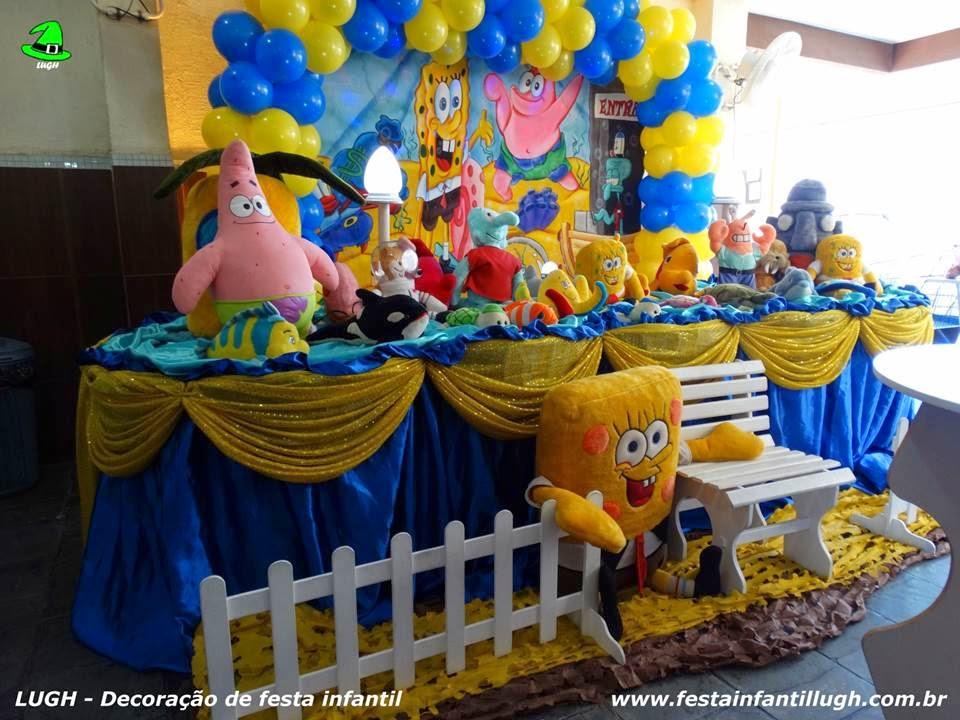 Tema Bob Esponja para festa de aniversário infantil