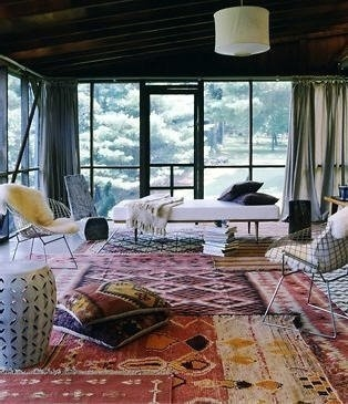 Kilim Layering Rugs In The Living Room Rug Bright
