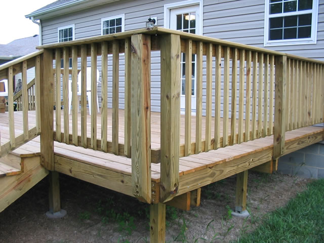 building a basic deck installing deck boards stairs handrail