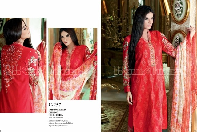 Gul Ahmed Embroidered Chiffon-14