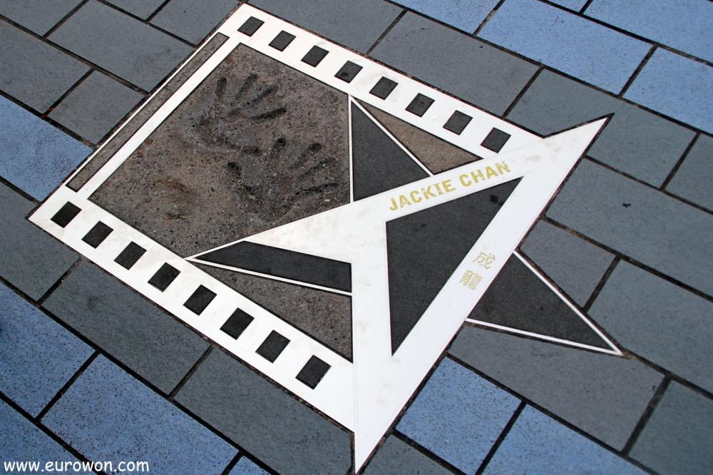 Estrella de Jackie Chan en la Avenida de las Estrellas de Hong Kong