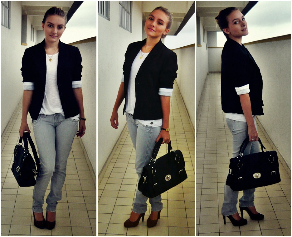 Vestido preto para entrevista de emprego