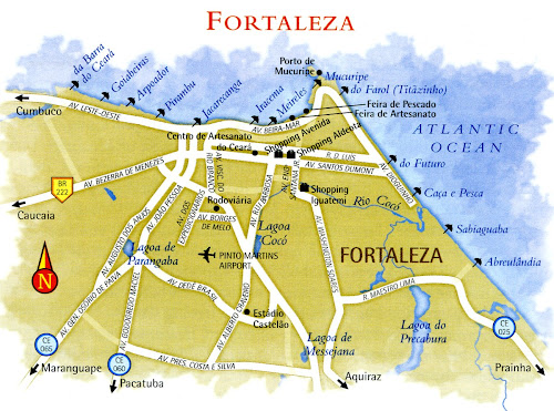 Fortaleza map