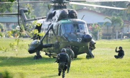 Pasukan Keselamatan M'sia Lancar Serangan Terhadap Lelaki Bersenjata Sulu