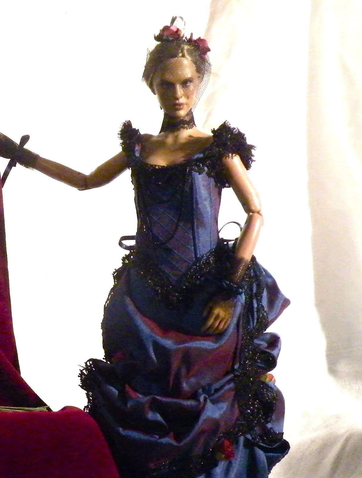 HR Creations: Blue Rose Victorian bustle gown