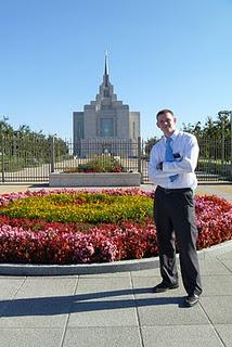 Dallin at the Temple