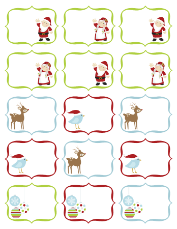 ... and Information.: Christmas Tags Printable - Free Label Templates