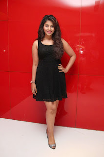 Actress Anjali Latest  Pictures in Short Dress at Kayal Movie Audio Launch  29.jpg