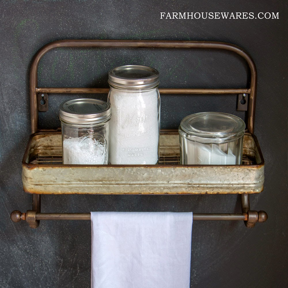 Farmhouse Musings Farmhouse Metal Shelf And Towel Rack