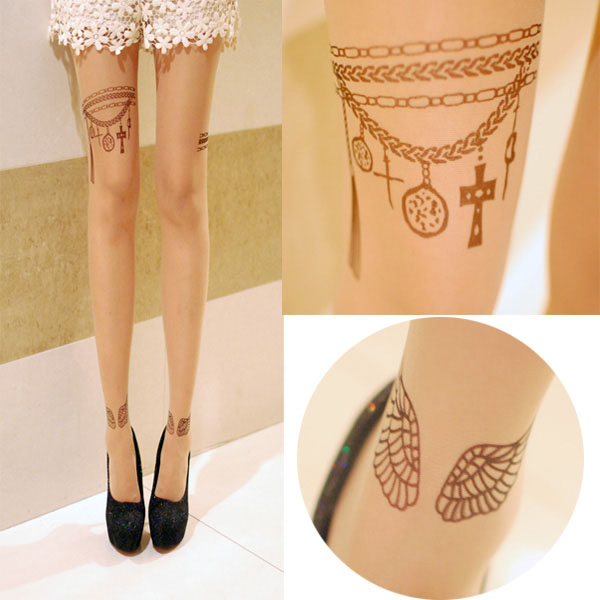 Restocked - CL370 - Little Wings Tattoo Stocking (Ready Stock)