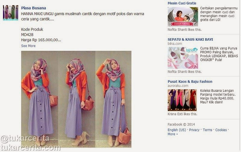 Link iklan fashion Facebook