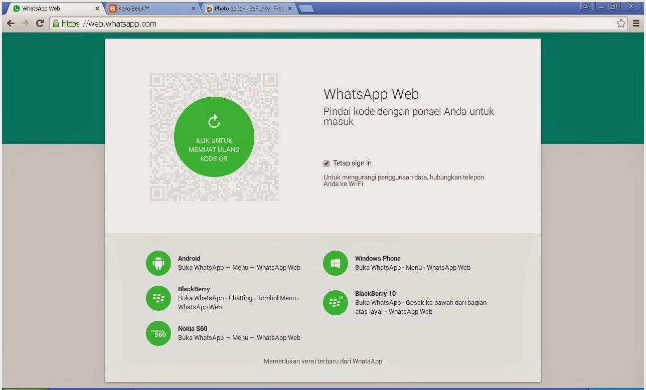 Mencoba WhatsApp Web dengan BlackBerry 10