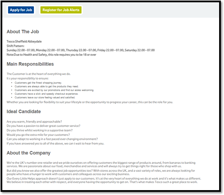 Business Resources Recruitment Documentation