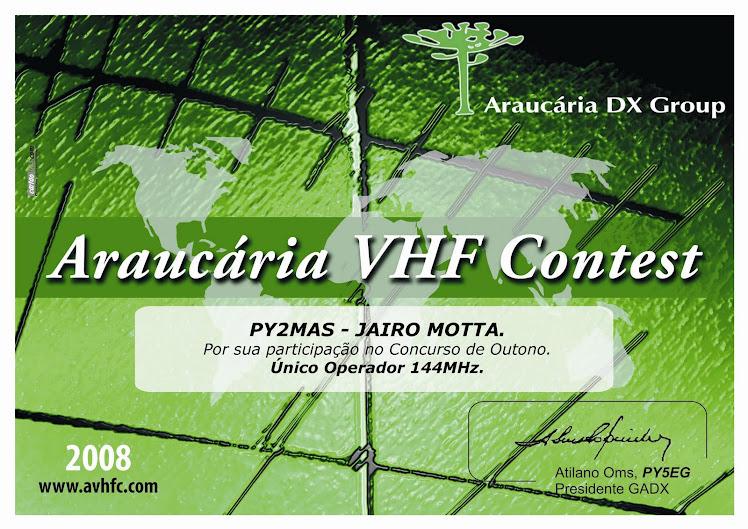 ARAUCÁRIA CONTEST VHF 2008