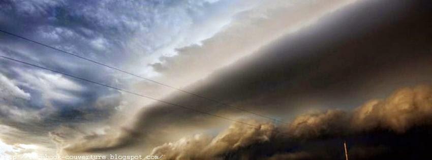 Jolie image de couverture facebook nuages