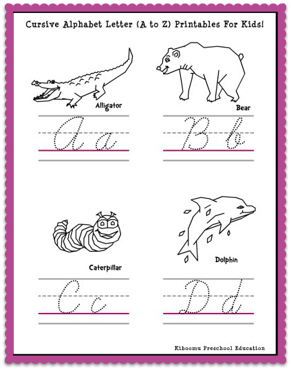 Letter Handwriting Worksheets