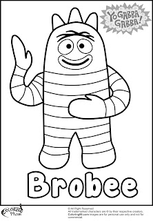 brobee yo gabba gabba coloring pages