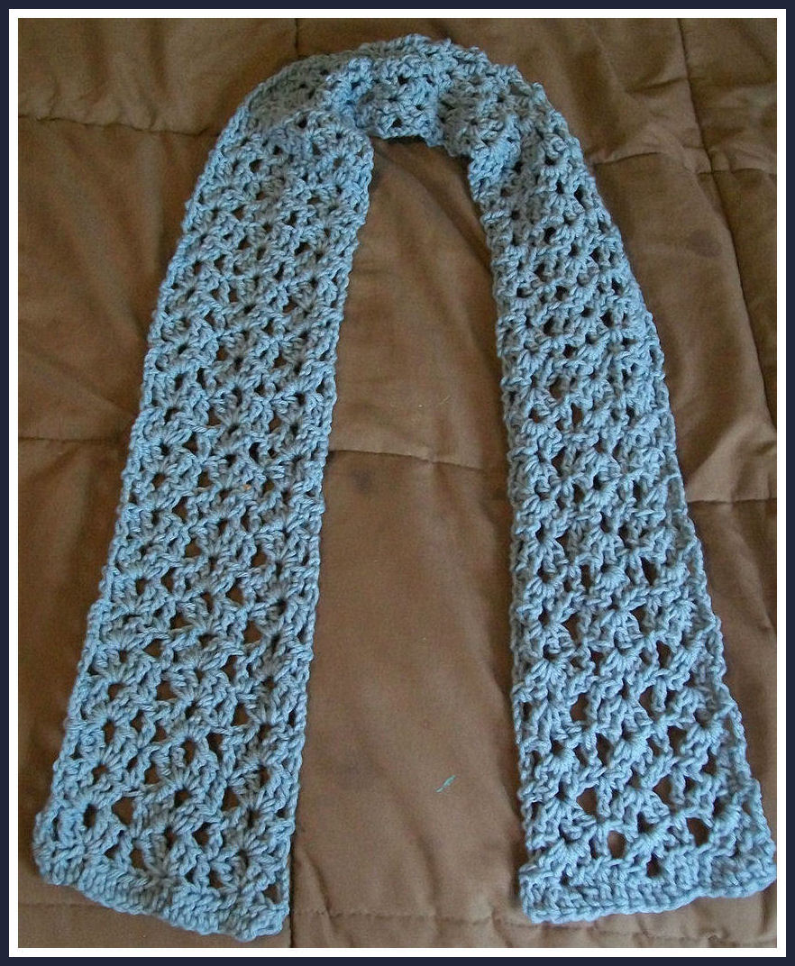 Free crochet patterns for the beginner and the advanced crochet lace shell scarf pattern dt1010fo