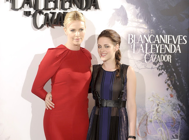 photos with CHARLIZE THERON and KRISTEN STEWART in Madrid