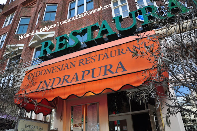 holiday to holland and belgium with premium beautiful in amsterdam at indrapura indonesian restaurant