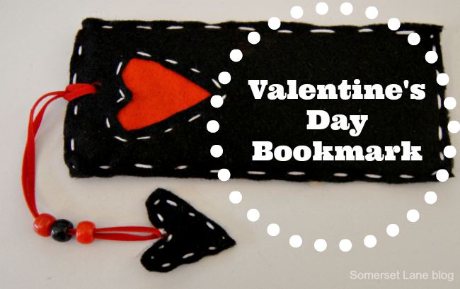 How to make a Valentine's Day Book mark. Perfect gift for a little reader!