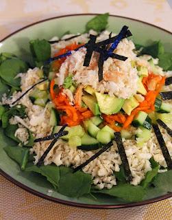 California Roll Sushi Salad With Wasabi Soy Sauce Dressing from Jo & Sue