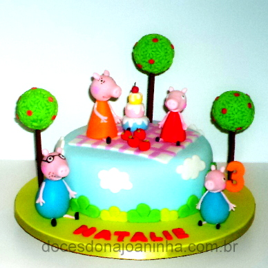 Piquenique da Peppa Pig - Bolo decorado
