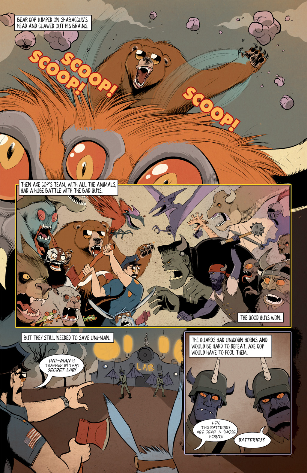 Read online Axe Cop: Bad Guy Earth comic -  Issue #3 - 8